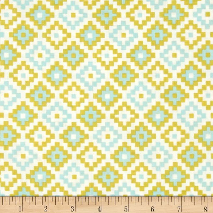 Riley Blake Woodland Spring Geometric Green