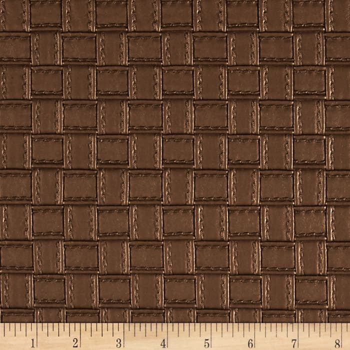 Faux Leather Basketweave Copper