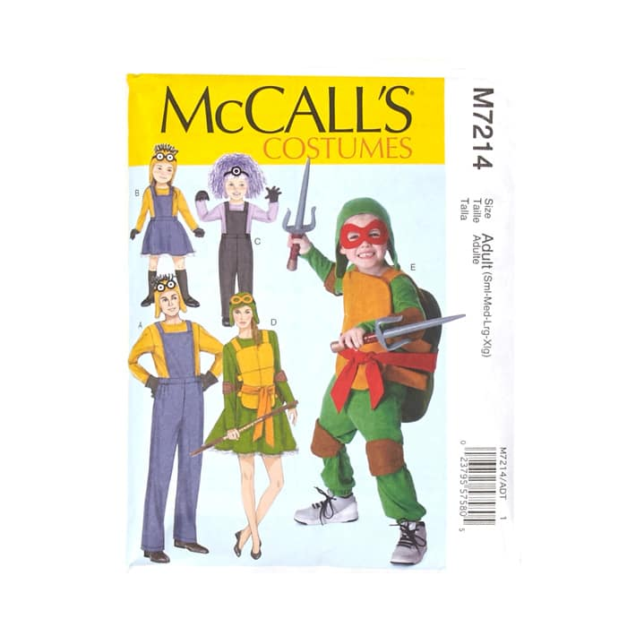 McCall's Children's/Boys'/Girls' Minions Costume Pattern M7214 (Sizes 3-4 5-6 7-8)