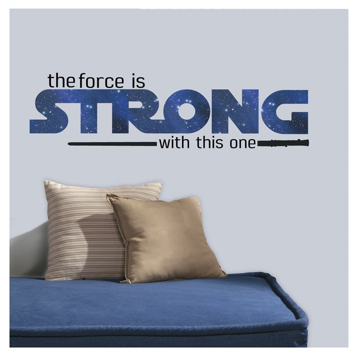Star Wars Classic The Force is Strong Wall Decal
