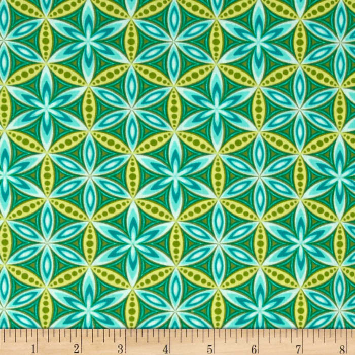 Transformation Flower of Life Turquoise/Green