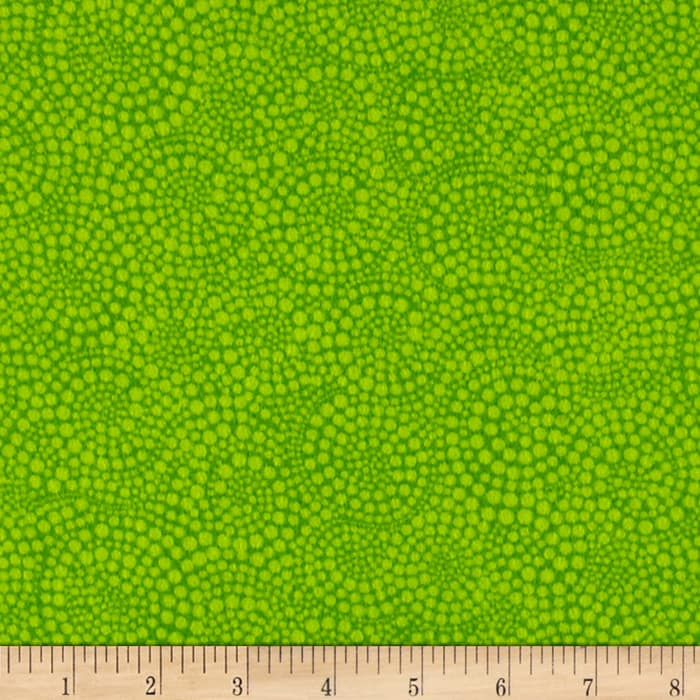 Timeless Treasures Sunkissed Swimmers Flannel Swirl Dot Lime