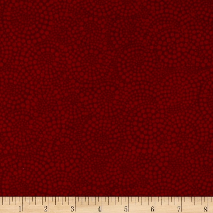 Timeless Treasures Sunkissed Swimmers Flannel Swirl Dot Red