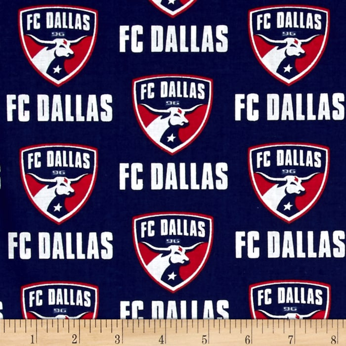 MLS Cotton Broadcloth FC Dallas Navy