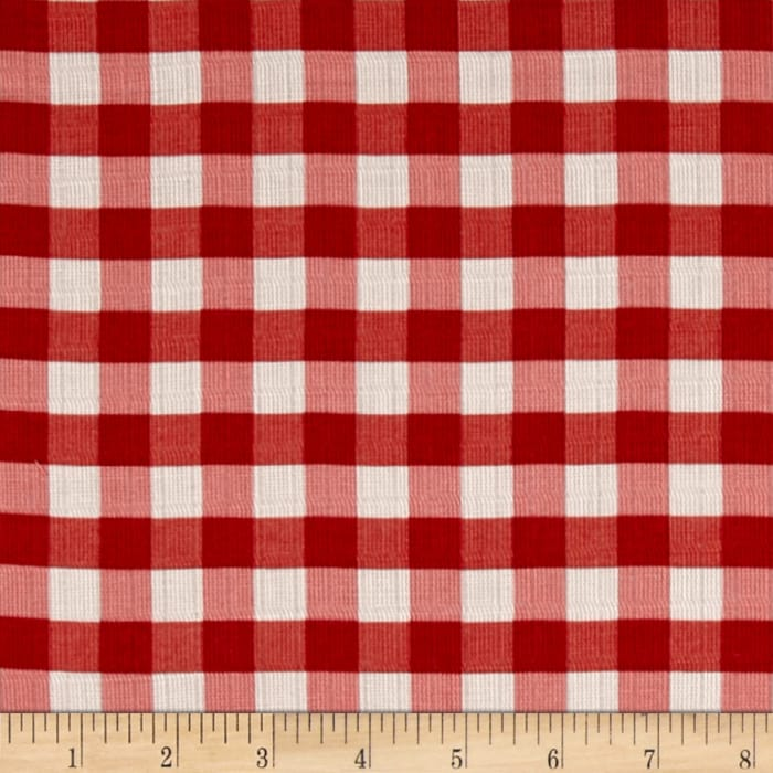 """Riley Blake Double Gauze 1/2"""" Gingham Red"""
