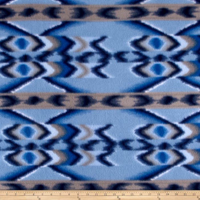 Fleece Kismet Print Blue