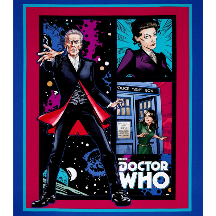 BBC Doctor Who Telephone Box Panel Blue