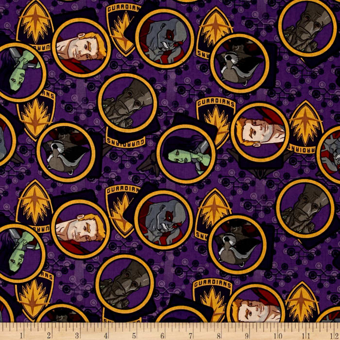 Marvel guardians of the galaxy gang purple discount for Timeless treasures galaxy fabric
