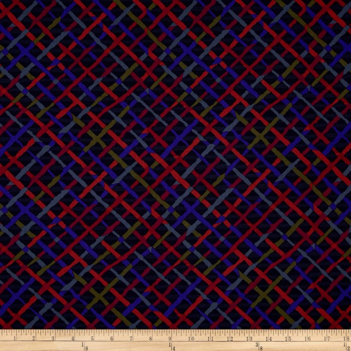 Kaffe Fassett Collective Mad Plaid Charcoal