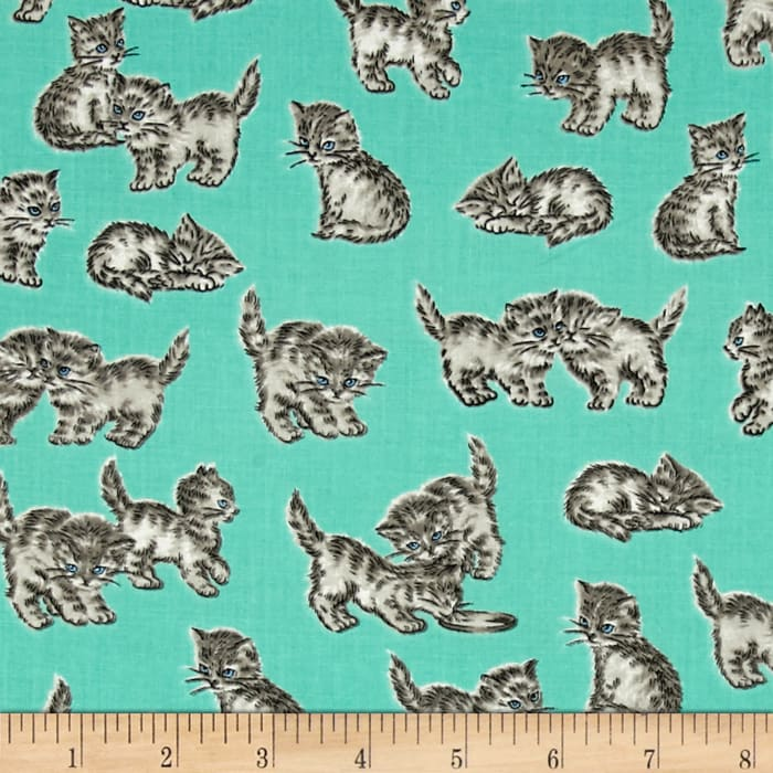 Kaufman Whiskers & Tails Kitty Cats Mint