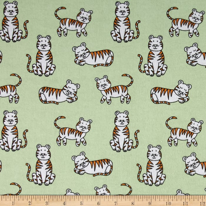 Michael Miller Baby Zoo Flannel Tiger Tykes Sprout