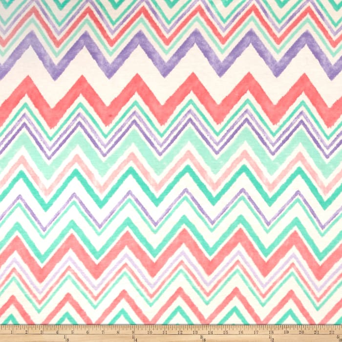 Jersey Knit Chevron Pink/Mint