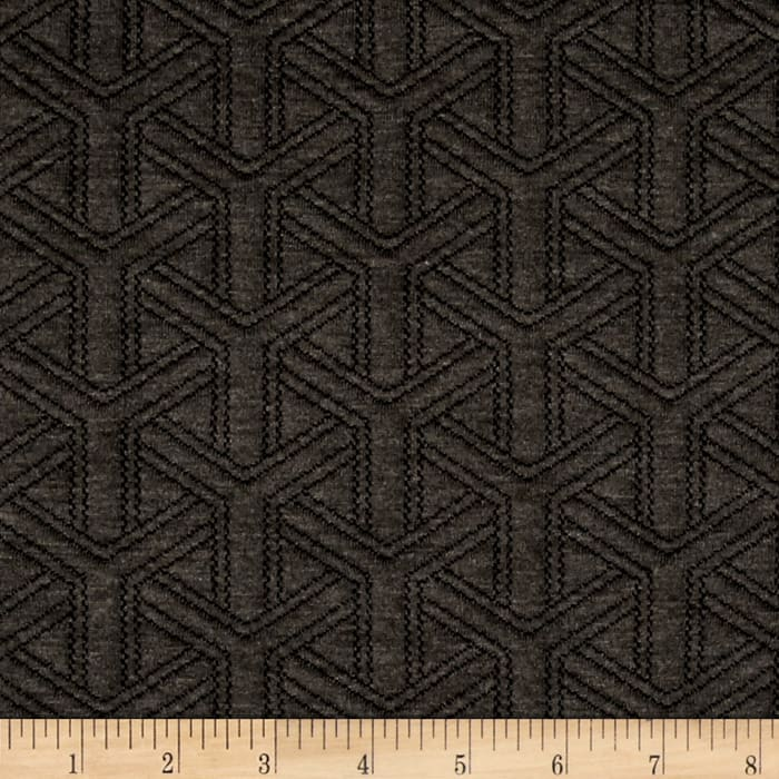 Double Knit Quilt Basket Weave Charcoal Heather