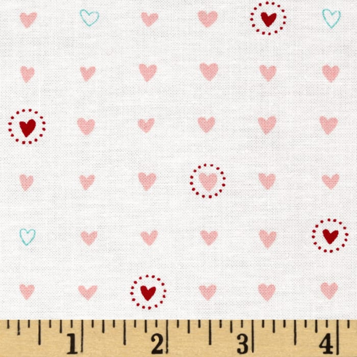 Moda Lil' Red Sweet Hearts Pink Cloud