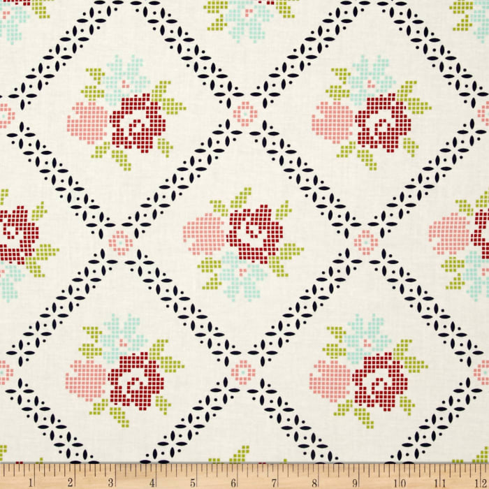 Moda Vintage Picnic Mayberry Mum Cream/Navy
