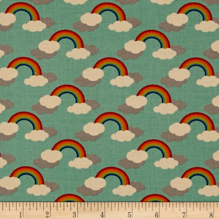 Moda Flying Colors Rainbows Aqua