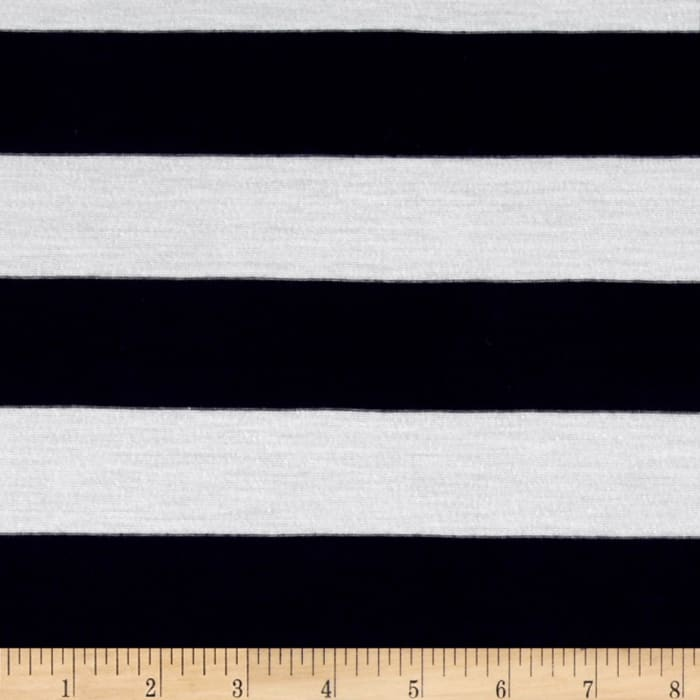 Yarn Dyed Jersey Knit Stripe Duke Blue