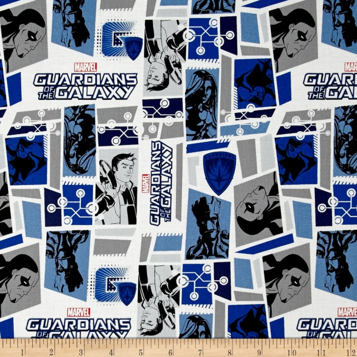 Marvel Guardians of the Galaxy Tiles White