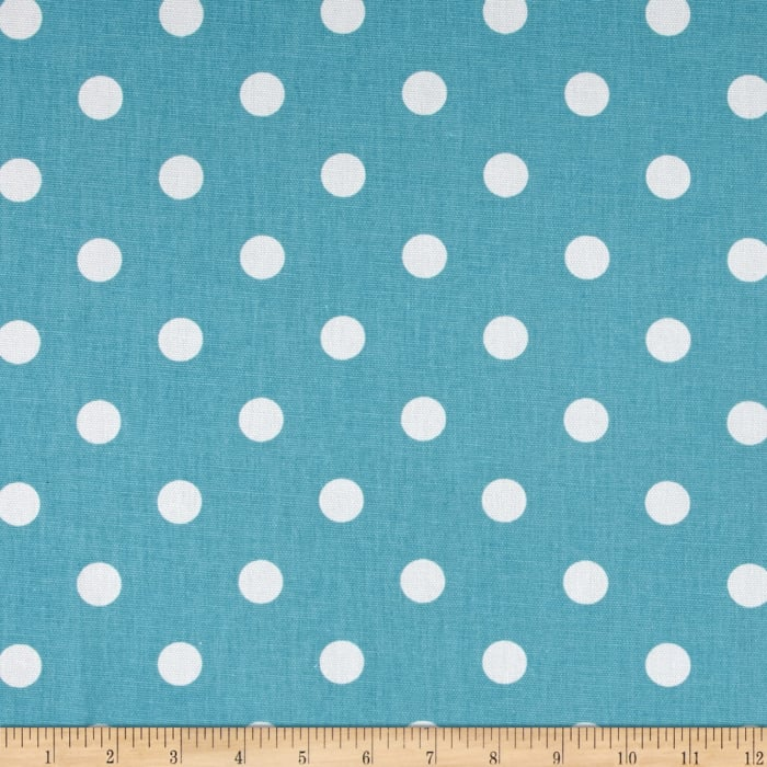 Premier Prints Polka Dot Coastal Blue/White