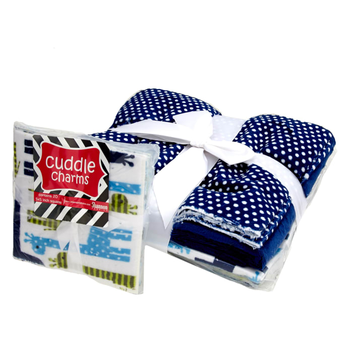 Shannon Minky Kozy Cut Cuddle Quilt One of the Boys