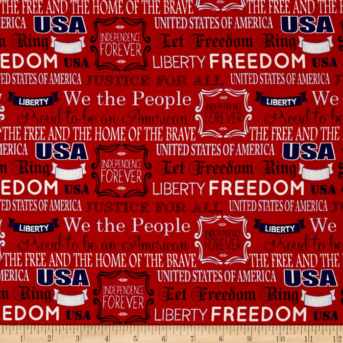 Mary Fons Small Wonders Americana We the People Red