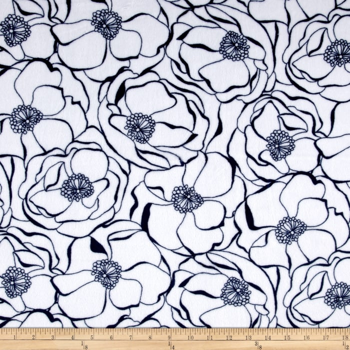 Shannon Minky Cuddle Bouquet Navy
