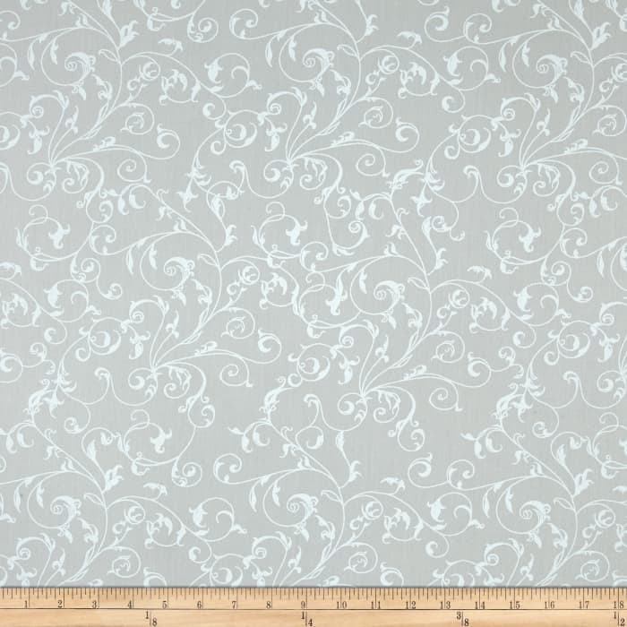 "110"" Wide Quilt Back Filigree Seafoam"