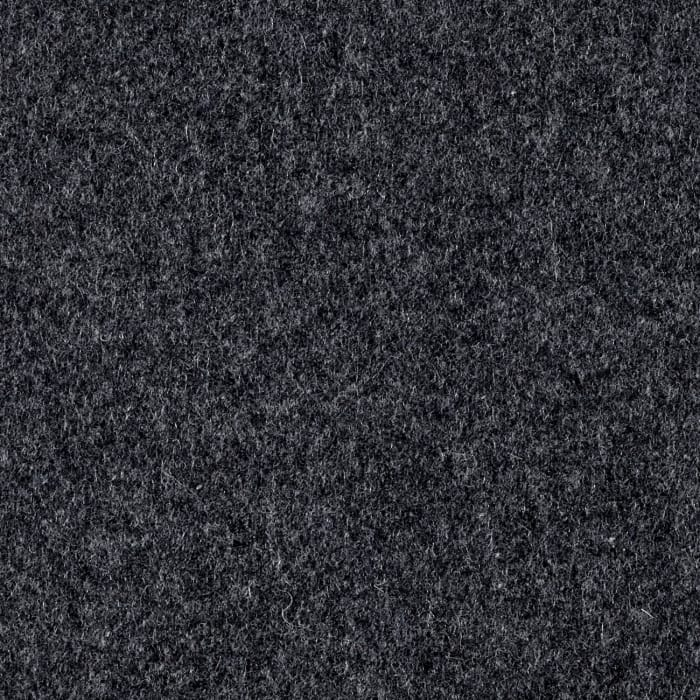 Wool Blend Melton Solid Charcoal Grey