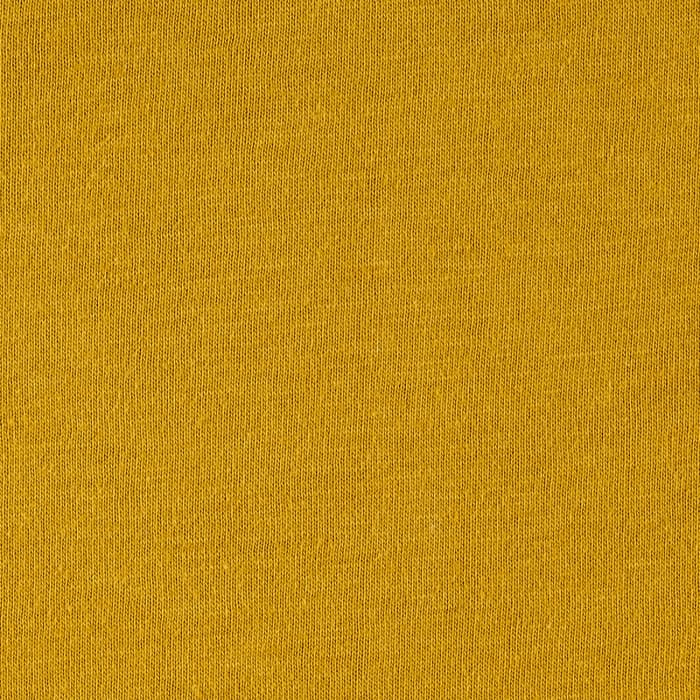 Cotton Jersey Solid Yellow Mustard