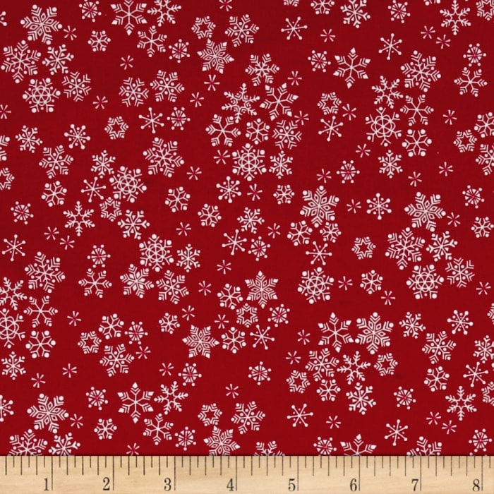 Frosty Snowflakes Red