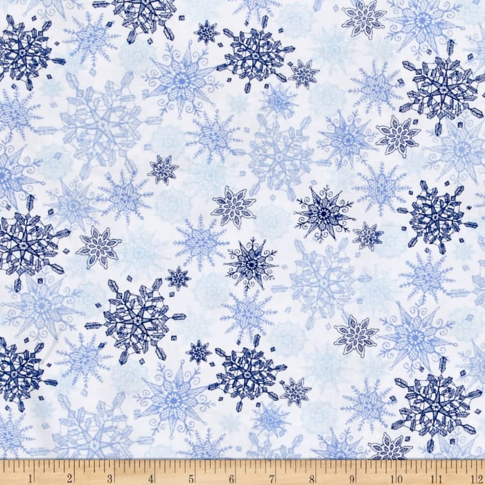 Winter Frost Snowflakes Blue