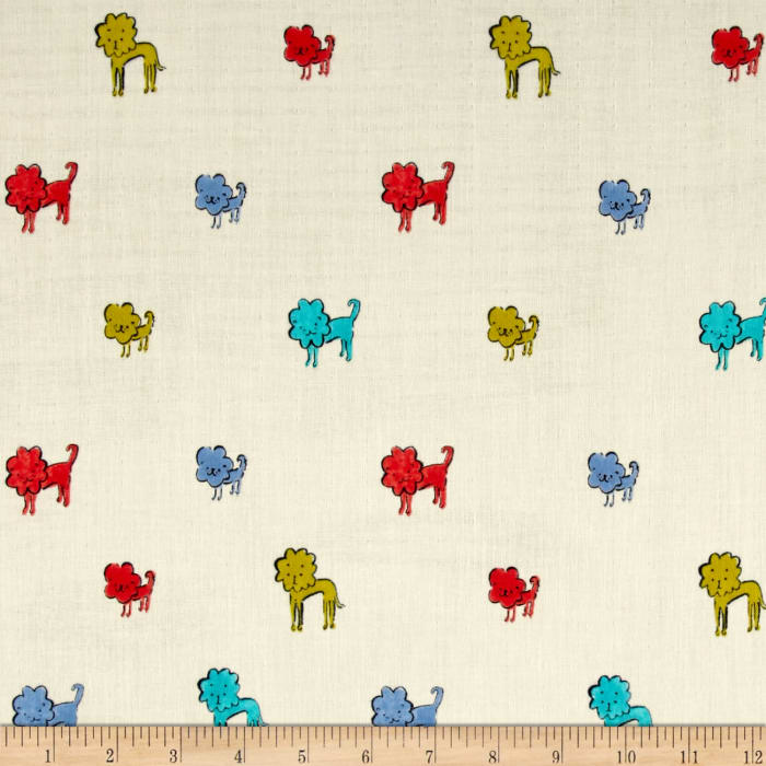 Cotton + Steel Clover Double Gauze Dog Lions