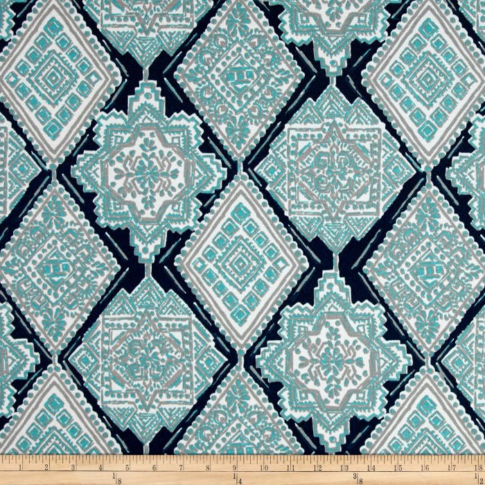 Premier Prints  Milan Indoor/Outdoor Oxford/Ocean