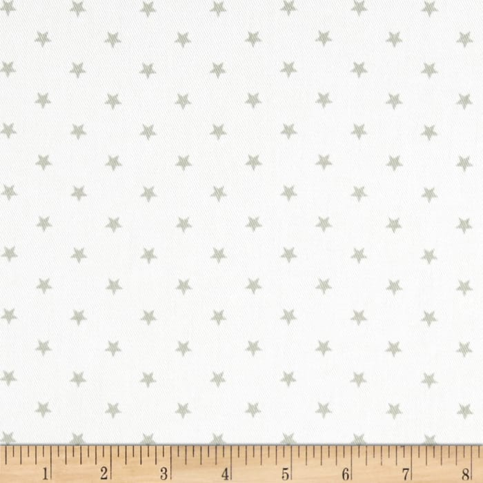 Premier Prints Mini Star Twill White/Snowy Grey