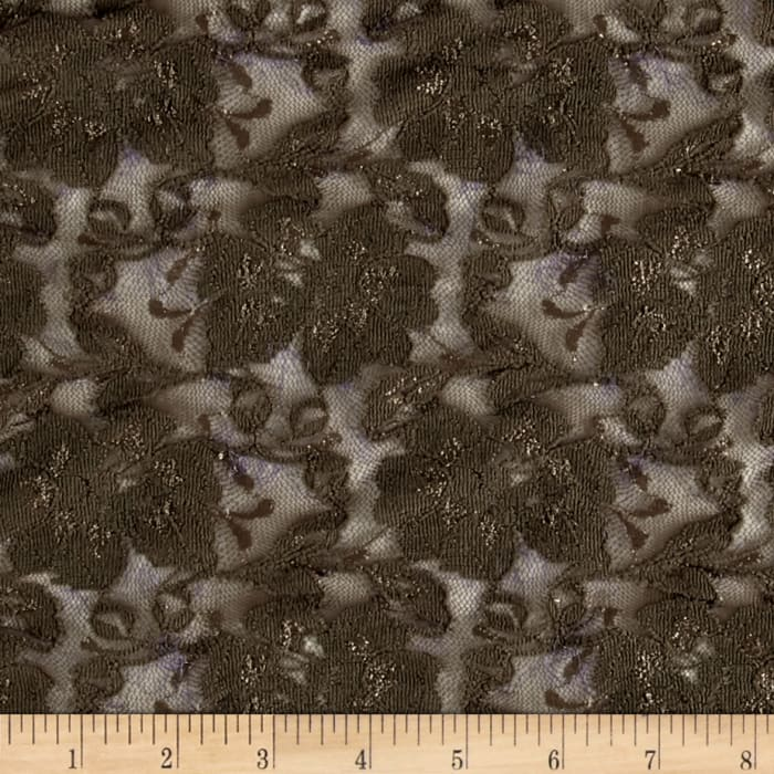 Floral Stretch Lace Olive