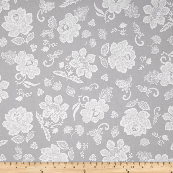 Hoffman Simply Eclectic Lace Floral Fog