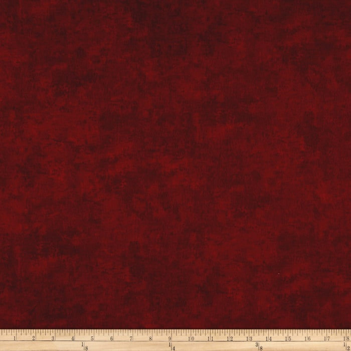 Timeless Treasures Winter Memories Flannel Texture Red
