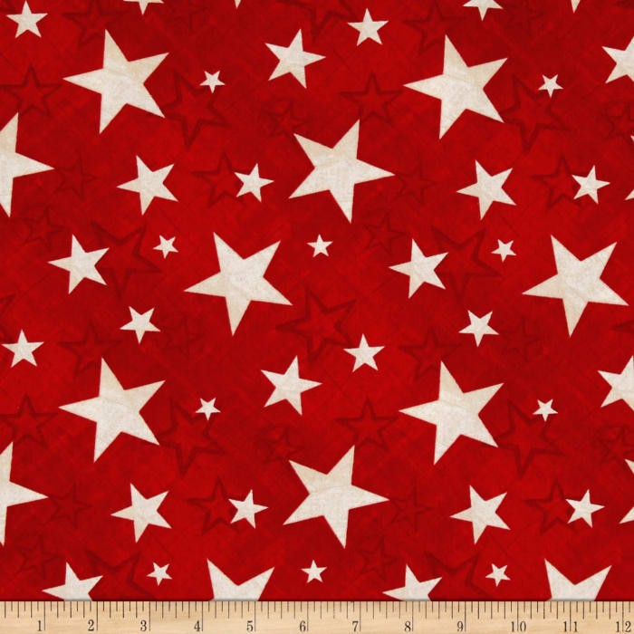 Colors Of Freedom Stars All Over Red