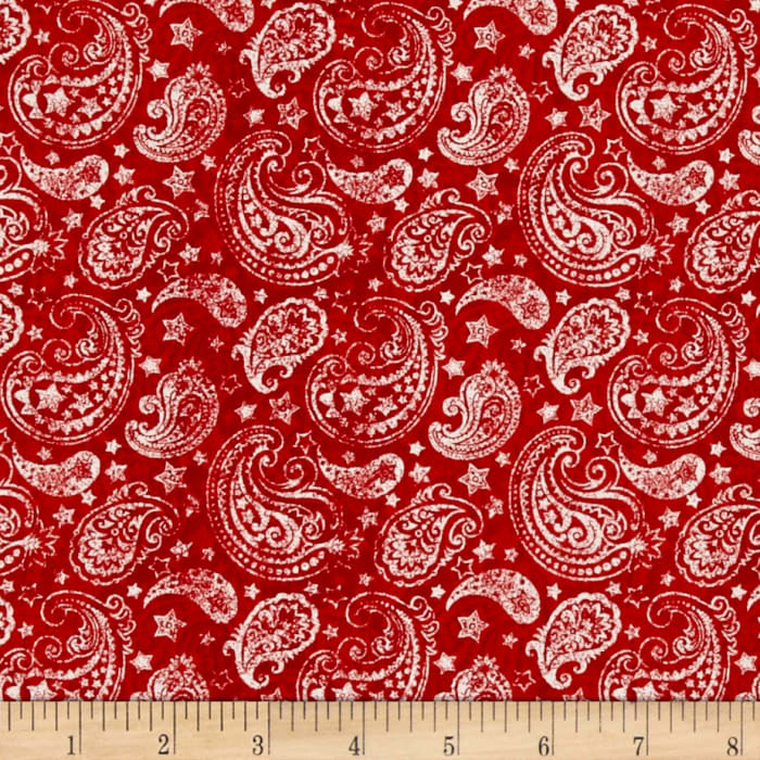 Colors Of Freedom Paisley Red