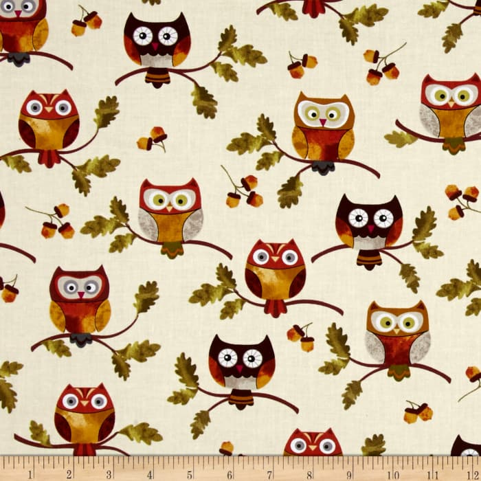 Leaf Into Autumn Owls Cream