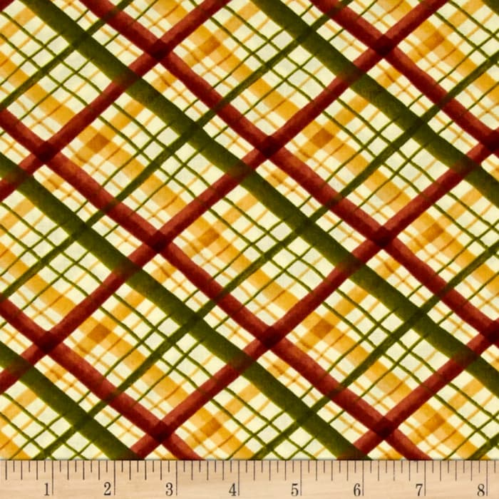 Leaf Into Autumn Plaid Tan