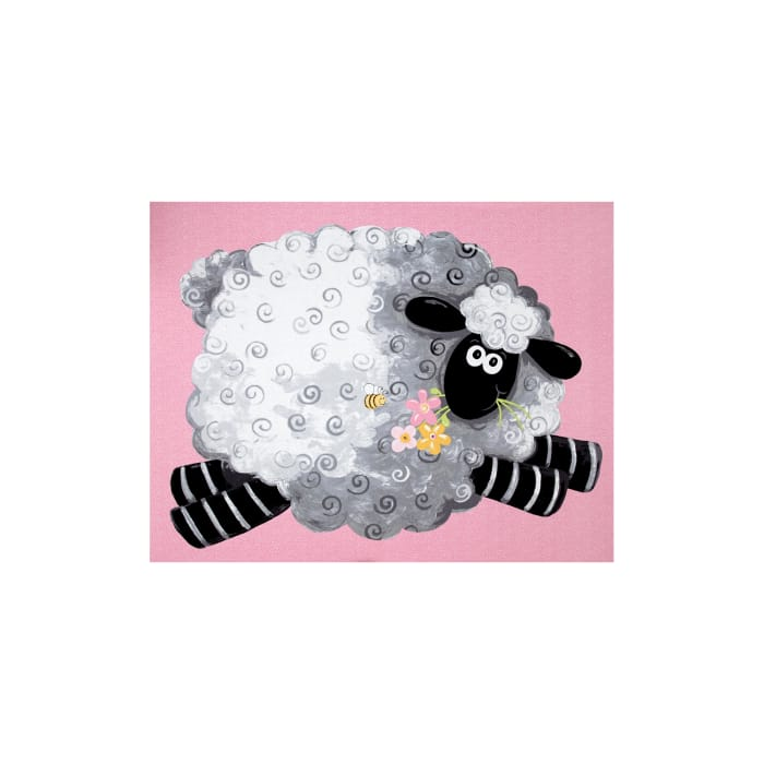 Susybee Lal The Lamb Lal Play Mat 36 In. Panel Pink