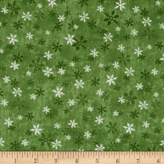 Home For The Holidays Snowflake Dark Green
