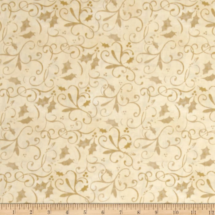 Holiday Traditions Scroll Cream