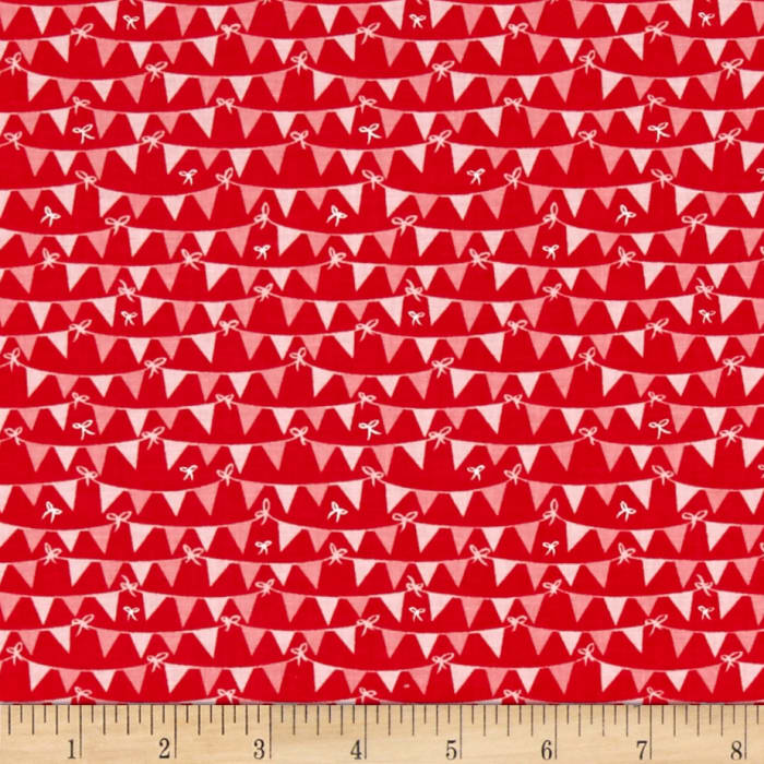 Riley Blake Tree Party Banner Red