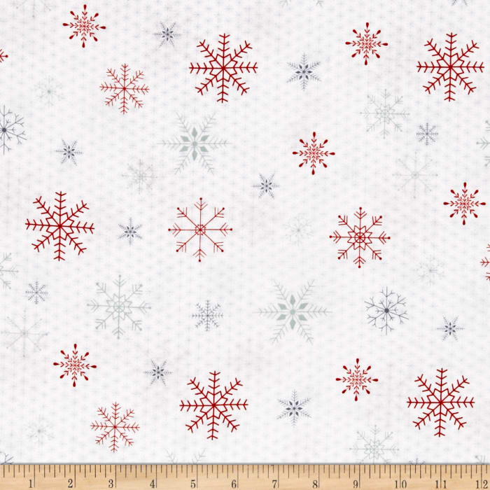 Joy, Love, Peace Snowflake White