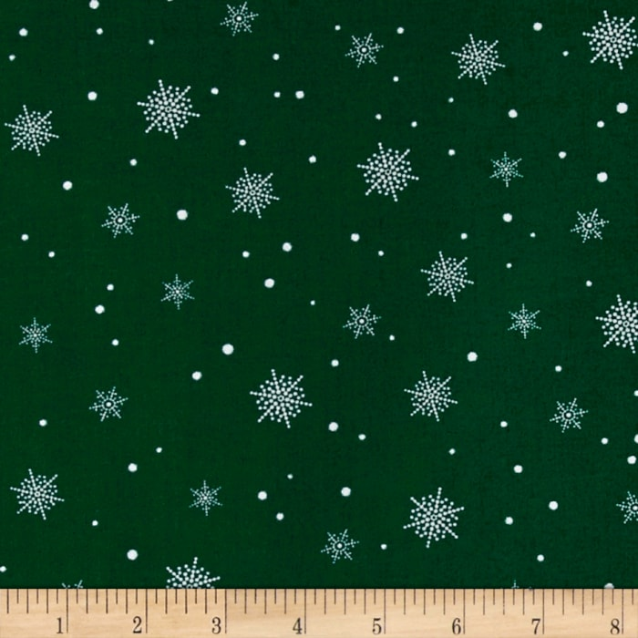 A Christmas To Remember Snowflake Green