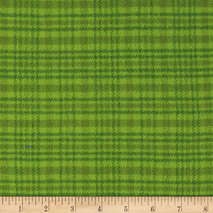 Color Catchers Yarn-Dye Flannel Large Plaid Lime