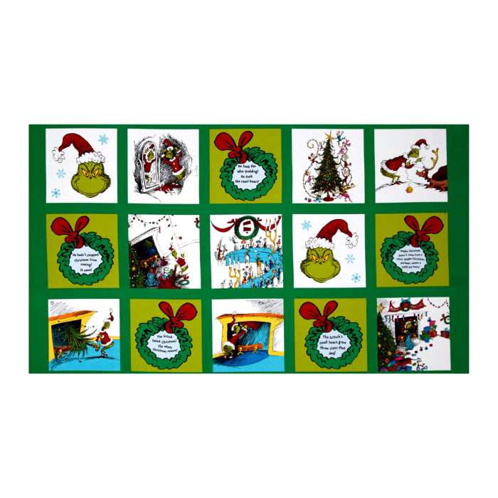 "How The Grinch Stole Christmas 23"" Block Panel Holiday"