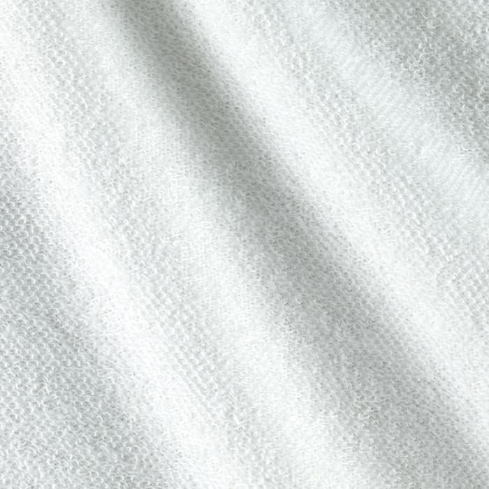 French Terry Knit Solid/White